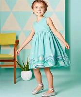 Super quality! 2015 new fashion girls dress, European design elegant ball gown for princess for party, elegant sleeveless dress.