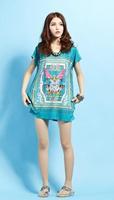 women summer dress Casual O-neck Short Sleeve Summer Women Large Size Crystal Linen Maxi bohemia style
