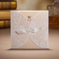Wedding Invitation Cards 2015 White Wedding Invitation Cards Laser Cut Wedding Invitations With Envelope 20pcs/Lot