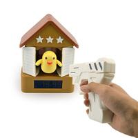 Funny Toy Kids bedroom novelty digital table clock bird sound shooting gun alarm clocks