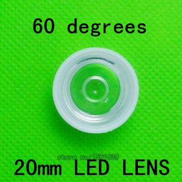 50PCS/LOT Led lenses 20mm/2cm 60 deg 50pcs/lot, led power lens for LED light lamps DIY! Match with Luxeon SEOUL EDISON(China (Mainland))