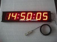 "4""red led 6 digital display desk clock 7- segment red remote led countdown timer"