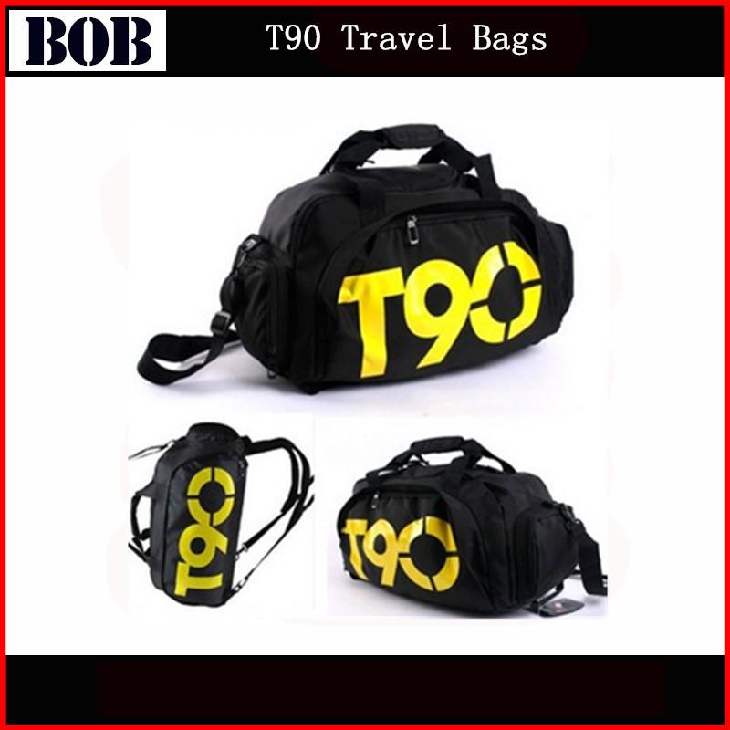 Nouvelle mode des hommes mulitifunctional t90 sacs de voyage sacs de sport de marque étanche. extérieur. t90 duffle sac de sport sac à dos hommes occasionnels