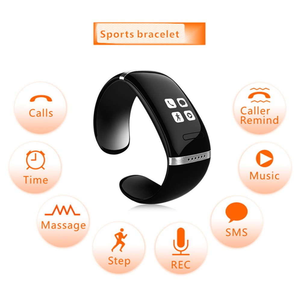 produto 2015 New OLED Bluetooth Bracelet Sports Pedometer Bluetooth Watch with Call ID Display/Answer /Dial/Music Player/Anti-lost Watch