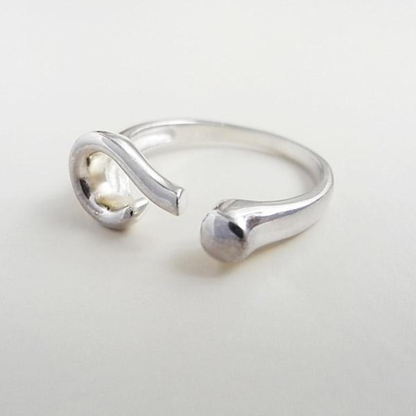 fy mode unisex retro metalen legering unieke opening splinter toon vraagteken symbool ring(China (Mainland))
