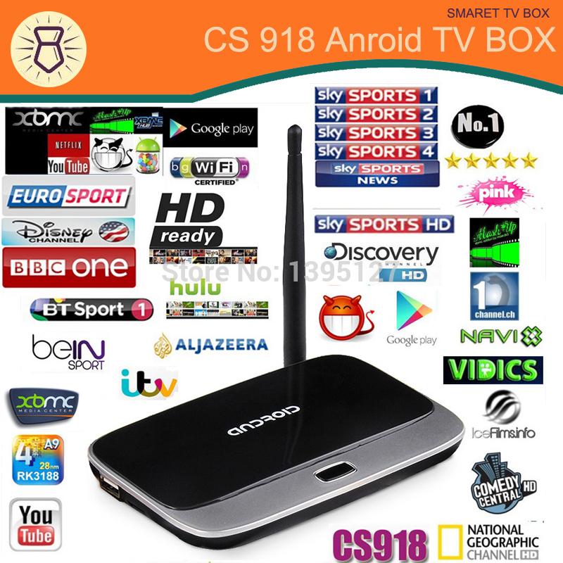 Original Android TV Box CS918 Q7 MK888 K-R42 Quad Core