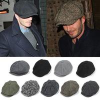 Adult Popular newsboy cap  warm winter Cashmere wool octagonal cap tidal outdoor boina hats free shipping