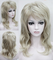 Wig Blonde Ladies' Natural Wavy long Synthetic Hair wigs 10pcs/lot mix order