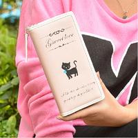 2015 women purse woman wallets cat style handbag card holder zipper wallet charge holder girl money bag