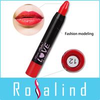 Rosalind High Quality Beauty Makeup Brand 12 Colors Lipstick Keep 12 Hours Lips Moisturizer Free Shipping