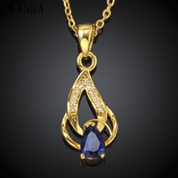 High Quality zircon necklace Fashion Jewelry Free shopping 18K gold plating necklace KASHAN053-A