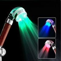 LED Temperature Control Romantic 3 Colors Light Bathroom Shower Head