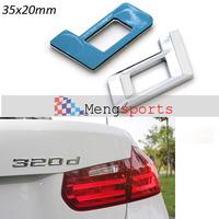 50pcs d letter Boot Badges Emblem Sticker 320d  120d