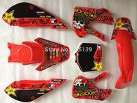 3M Graphics decals sticker kit + red plastic for kawasaki motorcycle BIKE KLX110 KX65 2002 2003 2004 2005 2006 2007 2008