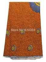 Nigerian Traditional Wear Real Wax Fabric Orange Shells Pattern Online rw469907