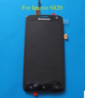 1 pcs free shipping Original LCD FOR Lenovo S820 LCD Display Screen + Touch Digitizer Screen Assembly +Tools