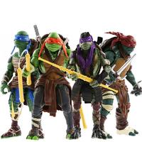 New 2014 Teenage Mutant Ninja Turtles Movie 4PCS Set Action Figures Toys Gift