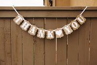 """""""Thank you """" bunting party photo booth props banner enfeites de casamento garland casamento gift favors-Free Shipping"""