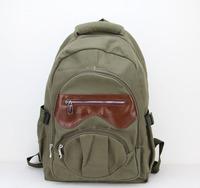 Canvas Backpack Men,Girls Vintage School Backpack,Women Laptop Backpack Bag,Rucksack free shipping H005 armygreen
