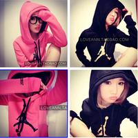 2014 New Swearshirt Printed Women Hoodie Women Hoody Sweatshirt Hooded Outerwear Tops Pullover Casual Sport Suit Women