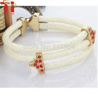 2015 Ti  Exclusive jewelry luxury leather bracelet, genuine stingray leather bangles,leather bracelets for women