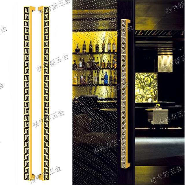 Cheap Chinese steel door handle back word framed glass door handle wooden door handles large modern(China (Mainland))