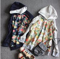 Korean version of the flowers cotton velvet hooded sweater women's sweaters