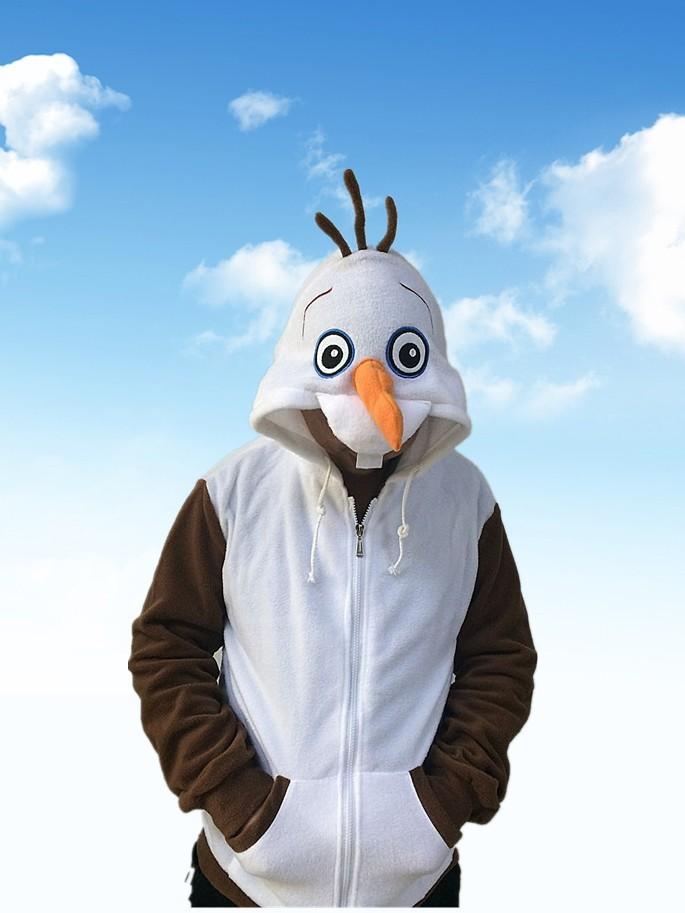 Spring New Hot Movie Hoody Cute Snowman Olaf Hoody White Sweatshirt Girls Ctue Design Spring Fall(China (Mainland))