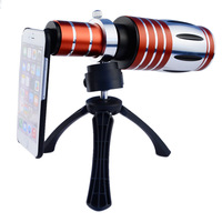 2015 new HOT Aluminum 50X Zoom Telescope Lens with Camera Tripod and hard case For iphone 6 Free shipping CL-48IP6