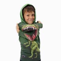 Spring Autumn Fashion Boys Dinosaur Hoodies Outfits Kids Cartoon Sweatshirt Jacket Baby Clothing Boys Dinossauro Hoodies