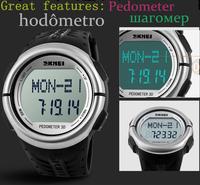 2015 Luxury brand skmei multifunction LED Digital Watches man Pedometer sports watch Student relogio masculino Quartz Wristwatch