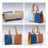 2015 new fashion female bag lady handbags Inclined shoulder bag Single women shoulder bag Stitching female bag W097