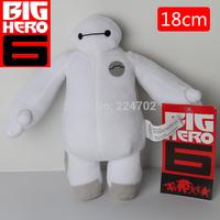 2015 New High Quality 18cm Big Hero 6 Baymax Stuffed Plush Robot Doll Soft Baby Toys Gift For Children