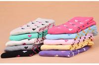 Love-heart Shape 100% Cotton Socks Fashion Women Socks