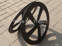 Full Carbon Matt Road Bike Five Spokes Clincher Wheelset  Bicycle Wheel