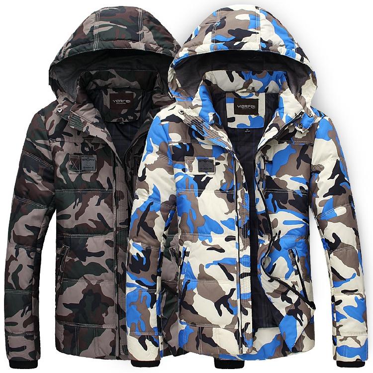 2015 winter down coat man , waterproof rate 10k breathability 8k gm man slim design Camouflage skiing hiking jackets Polyester(China (Mainland))