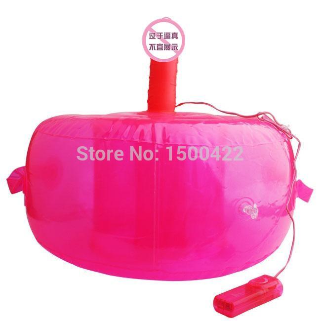 Female masturbation supplies inflatable vibrating seat design unique novelty simulation penis senior soft silicone very texture(China (Mainland))