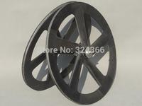 Full Carbon Matt Track Bike Five Spokes Clincher Wheelset  Rim Depth : 65mm