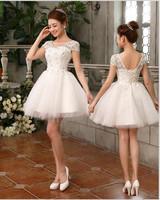 Wedding dress princess sweet double-shoulder short design formal dress