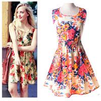 2015 new arrival summer women mini dress sleeveless fashion printslim tank casual tight dress for woman sundress S-XXL vestidos