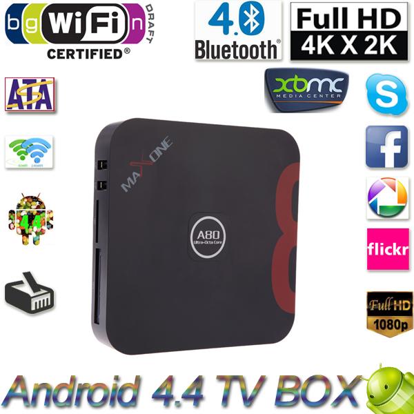 Телеприставка OEM 4.4 Allwinner A80 XBMC SATA 2 /16 4 K * 2 K Miracast DLNA