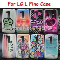 For LG L Fino Soft TPU Desert Sky Flower Sunset Style Cell Phone Cases Cover For LG L Fino D295 Case