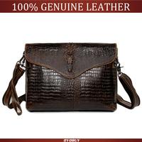 New 2015 Fashion Genuine Leather Handbags men aligator clutch bag messenger shoulder bags men's leather bags wholesale