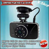 X-SHOP DM980 Full HD Car DVR 1920x1080 Wide Dynamic Range G-Sensor IR Super Night Vision Vehicle Camera Recorder 8G TF CARD