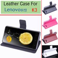 Lenovo K3 Leather PU Moblie Phone Flip For Lenovo K3 Smartphone CaseFree Shipping