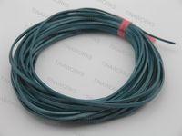 FREE SHIPPING 20Yds/2Pcs 3.0x2.0mm Metallic Emeraude Flat Real Leather Jewelry Cord, each piece 10 yard