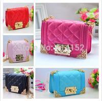 Retail 1pcs 2015 New Girl Handbag Double O Branded Design Lady Mini Bags Girls Purse Kids girls chain Bag girl bag