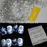 SS3-SS4-SS5-1440pcs 3d Nail Art Flat Back Acrylic Rhinestones 3d Nail Art Decorations Cell phone Rhinestone Gems Clear #NAO30
