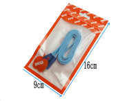 free shipping orange Zipper Plastic Retail Packaging bag charger USB cable for iphone 4 4s Hang Hole Packages Bags