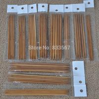 55Pcs/Lot 11sizes 5'' 13cm Double Pointed Carbonized Bamboo Knitting Needles T1573 P